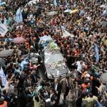 El cortejo fúnebre de Kirchner