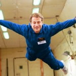 Peter floating in Zero G